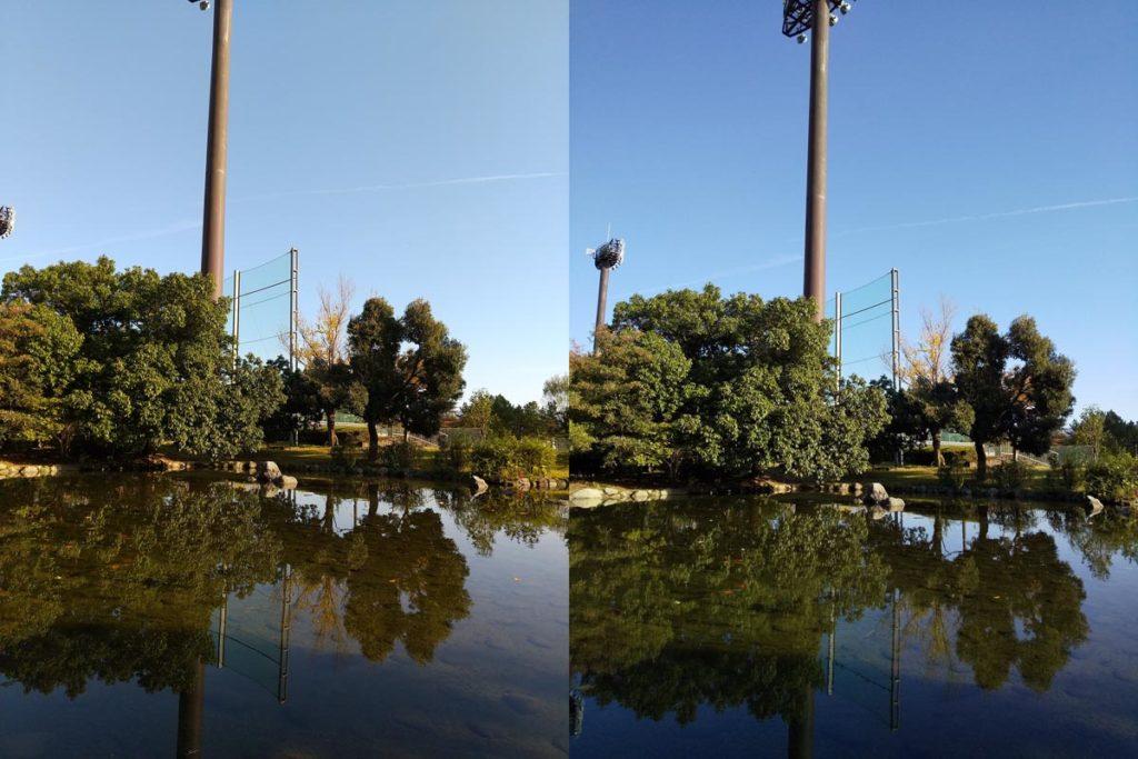 AQUOS sense3・sense2 標準カメラ比較