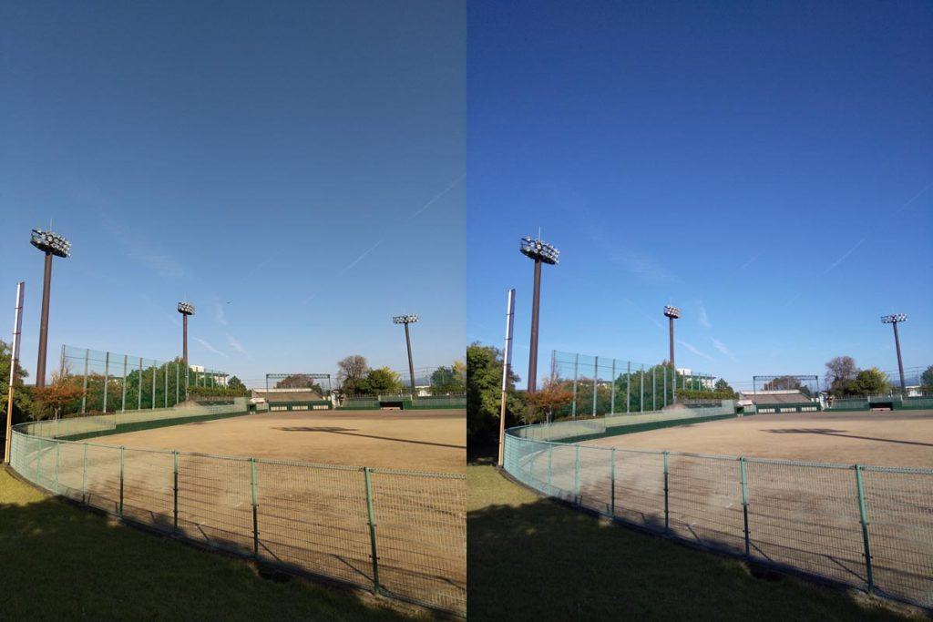 AQUOS sense3・sense2 標準カメラの色合い