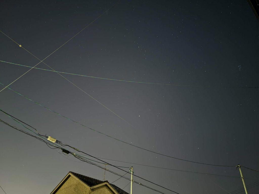 Pixel 4の天体モードで撮影