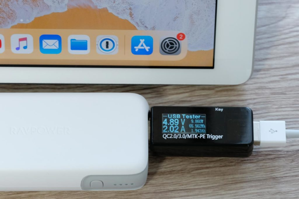 iPadをUSB-Aで充電