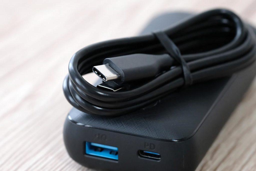 USB-Cケーブルが付属している