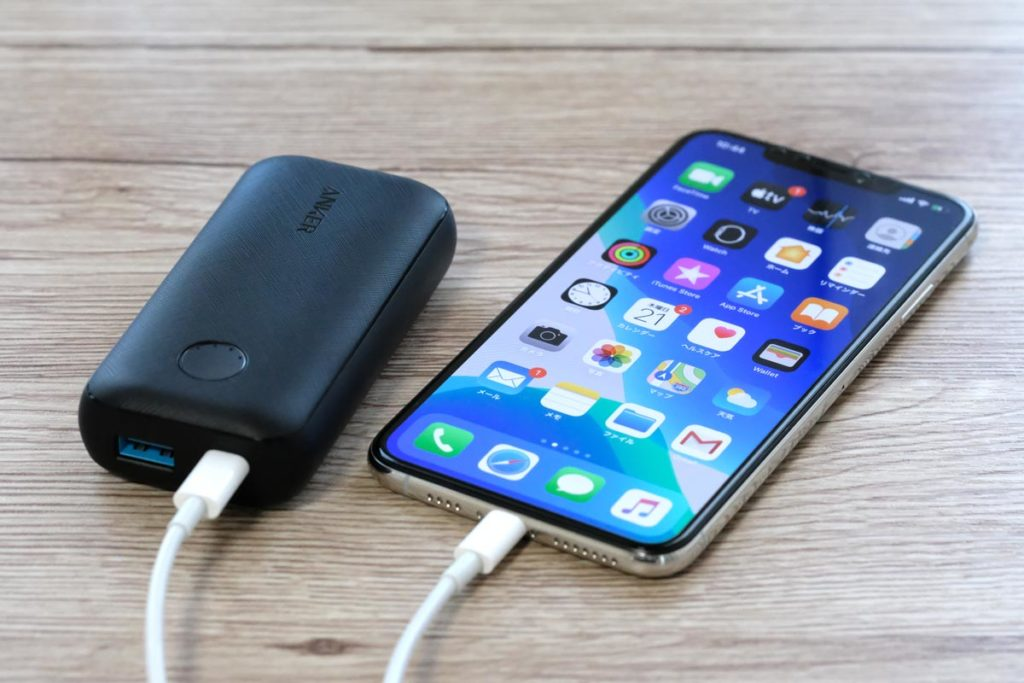 PowerCore 10000 PD ReduxとiPhone XS Max