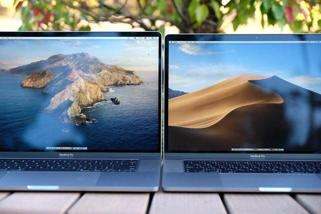 MacBook Pro 16インチと15インチ