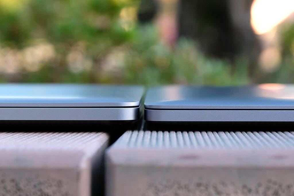 本体の厚みが増したMacBook Pro 16インチ