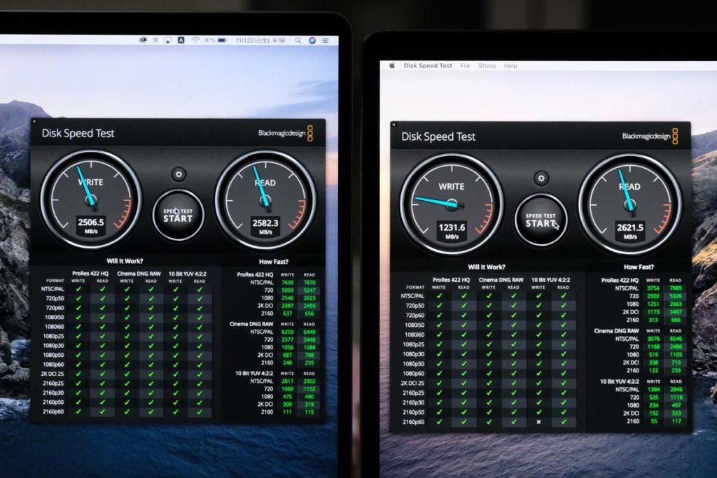 SSDストレージの性能比較