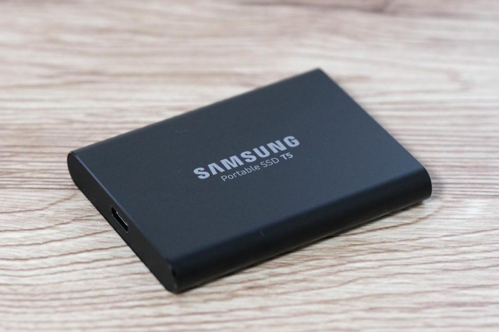 T5 Portable SSDの本体デザイン