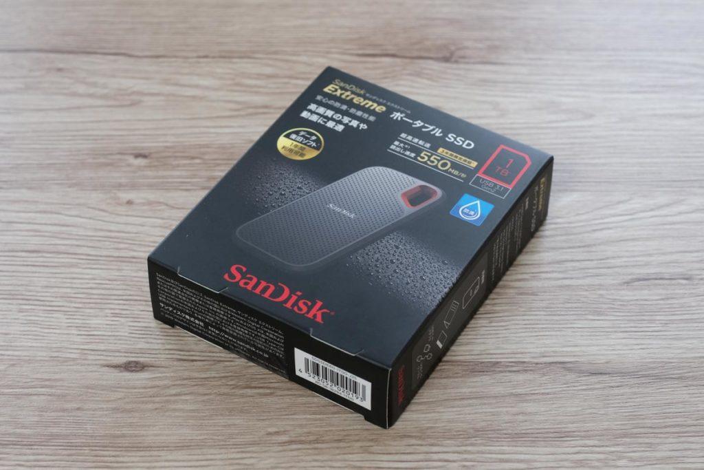 SanDisk エクストリームSSD パッケージ