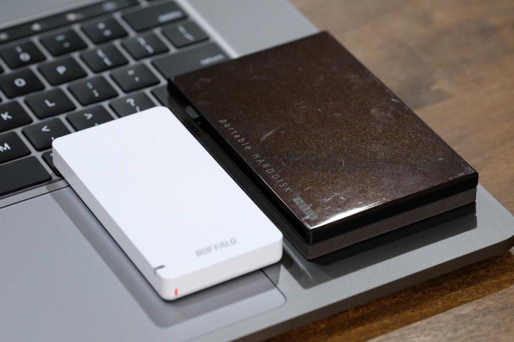 SSDとHDDの筐体サイズの差