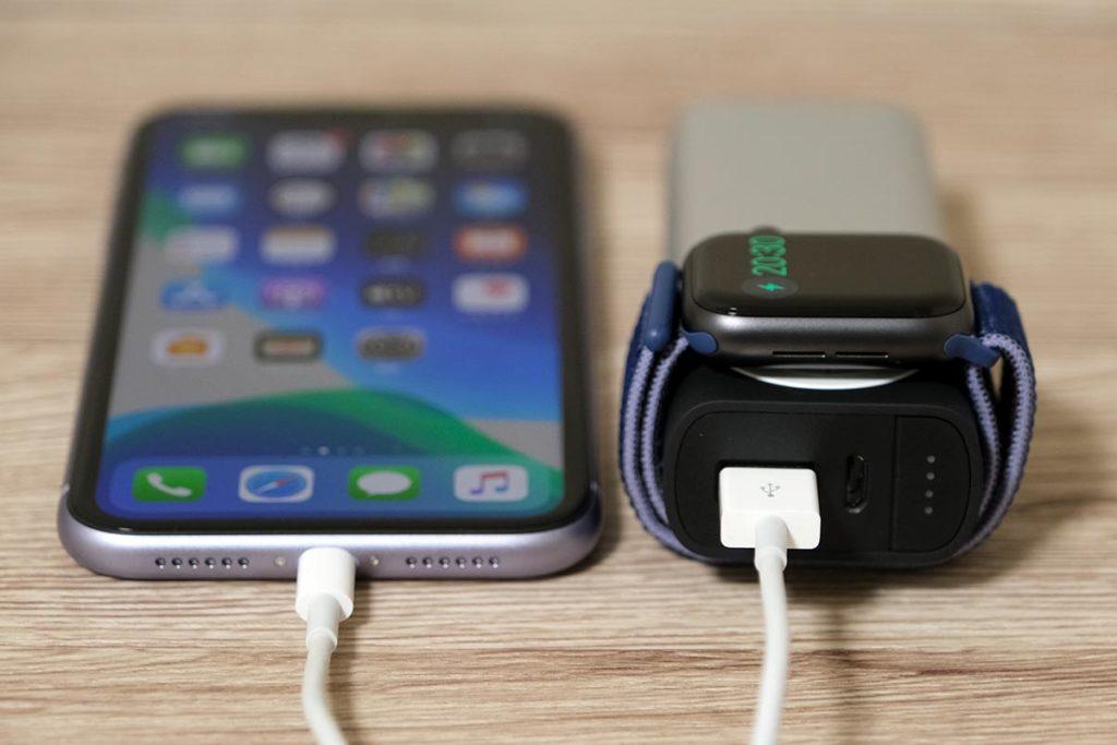 iPhone 11とApple Watchを同時充電