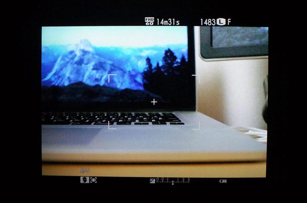 X-T10 EFVの画面