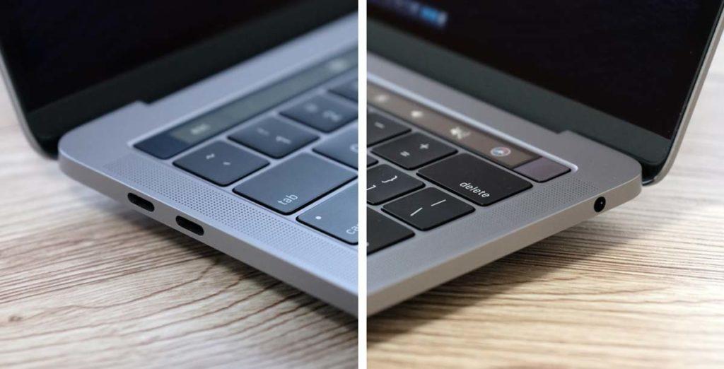 MacBook Pro 13インチ(1.4GHz)外部ポート