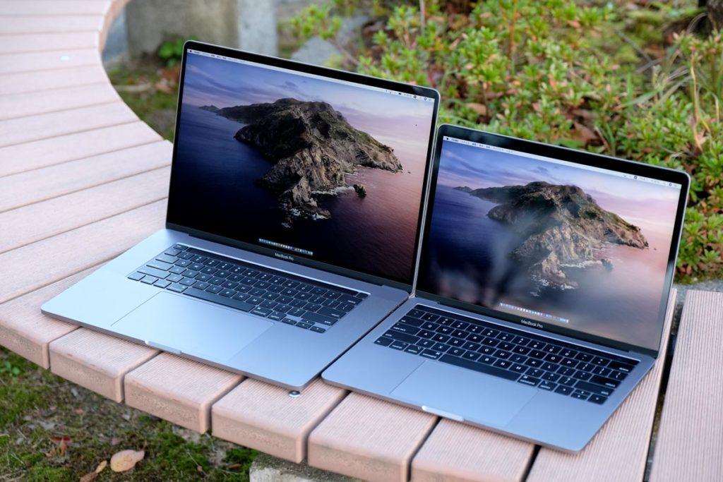 MacBook Pro 16インチと13インチ
