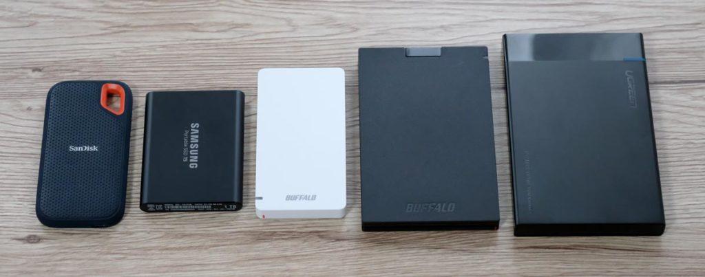 外付けSSDを比較
