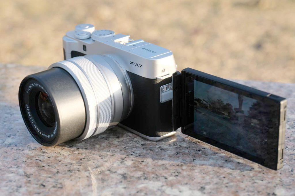 X-A7は自撮り撮影もできる