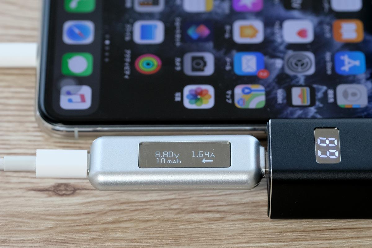 iPhone 11 Proを約15Wで急速充電