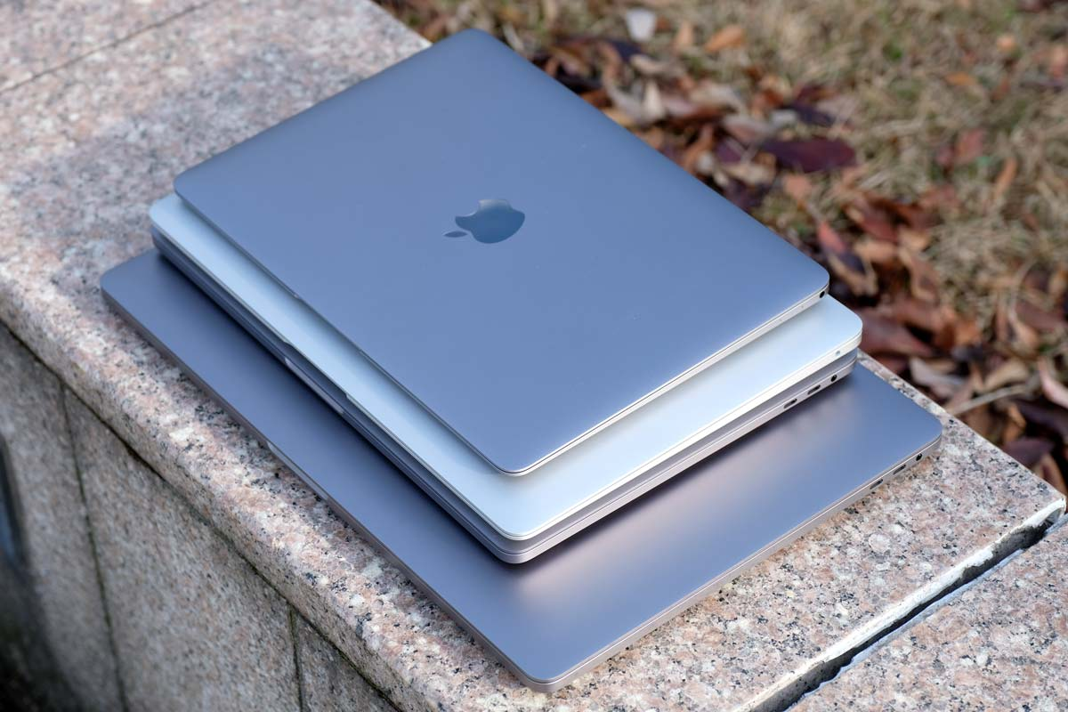 MacBook・MacBook Air・Proの大きさ比較