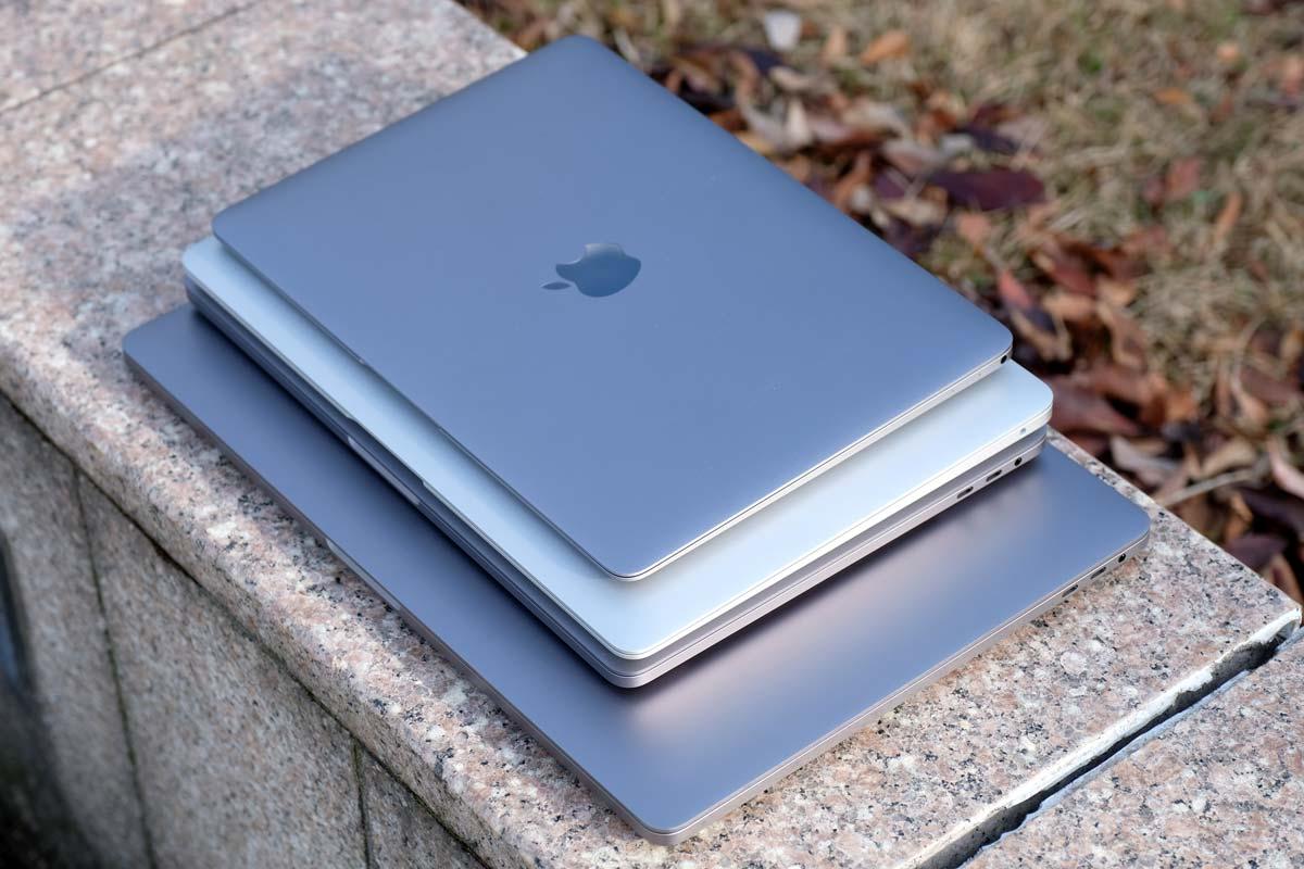 MacBook・MacBook Air・Proの大きさ比較