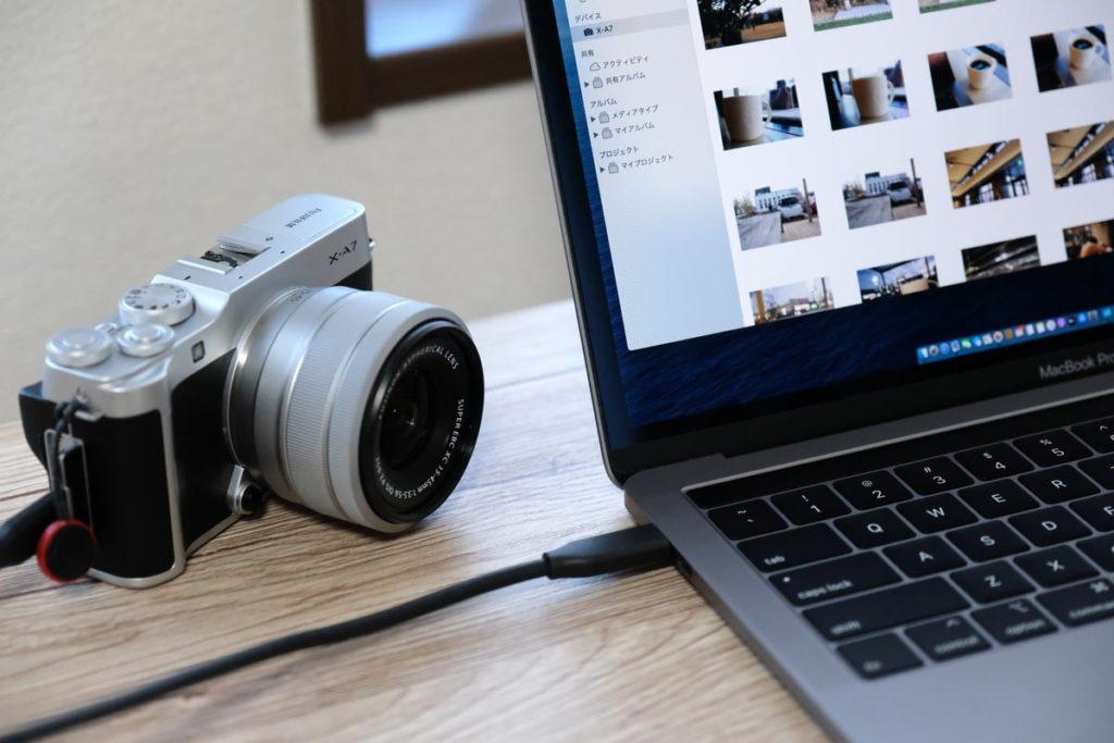 直接SDカードの写真を取り込める