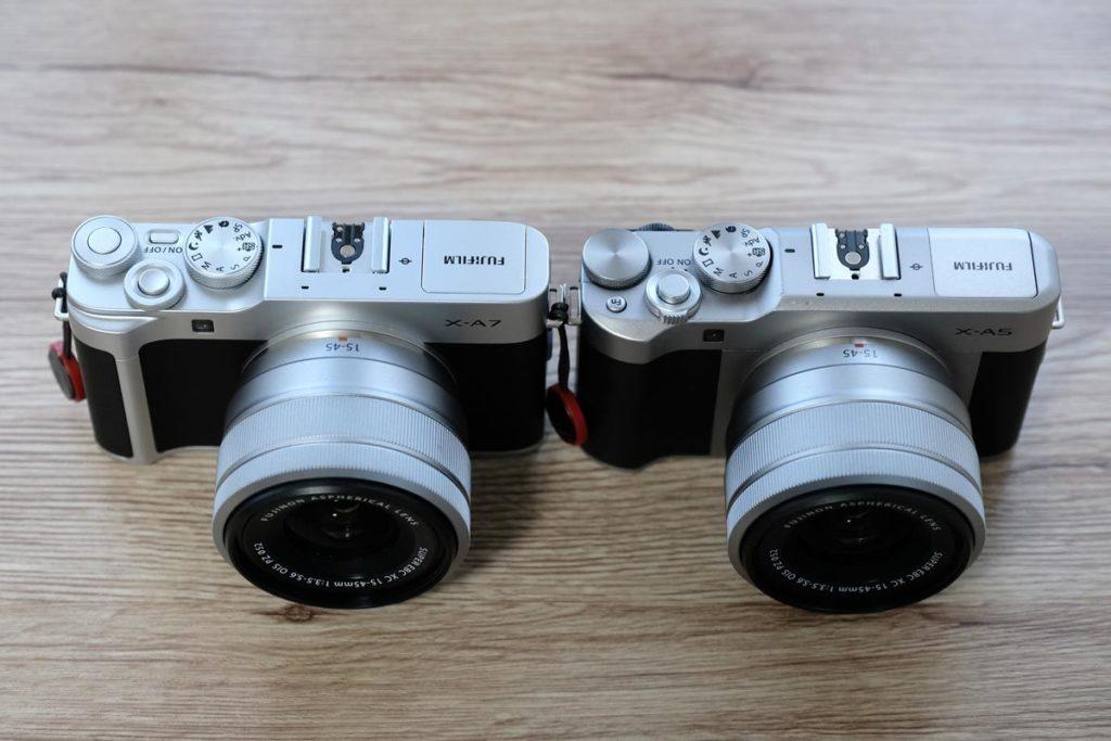 X-A7とX-A5のデザイン比較