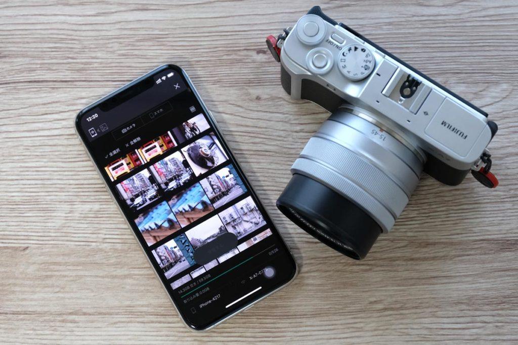 カメラのWi-Fi機能で写真をスマホに転送