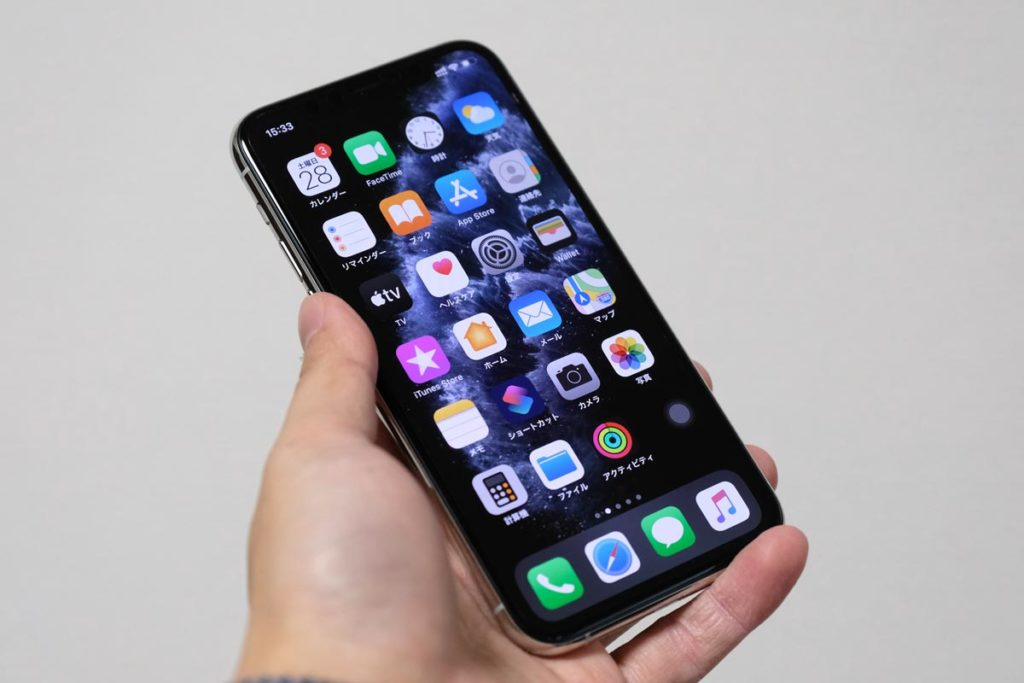iPhone 11 Proの正面デザイン