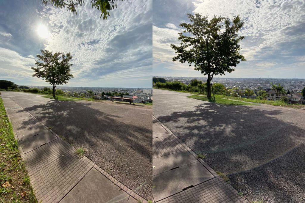 超広角カメラと広角カメラ