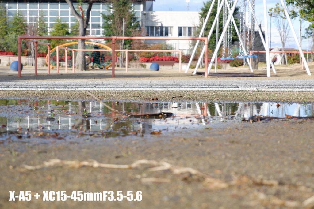 X-A5 + XC15-45mm 公園を撮影