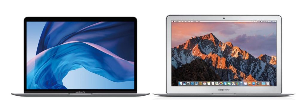 MacBook Air 新旧のデザインの違い