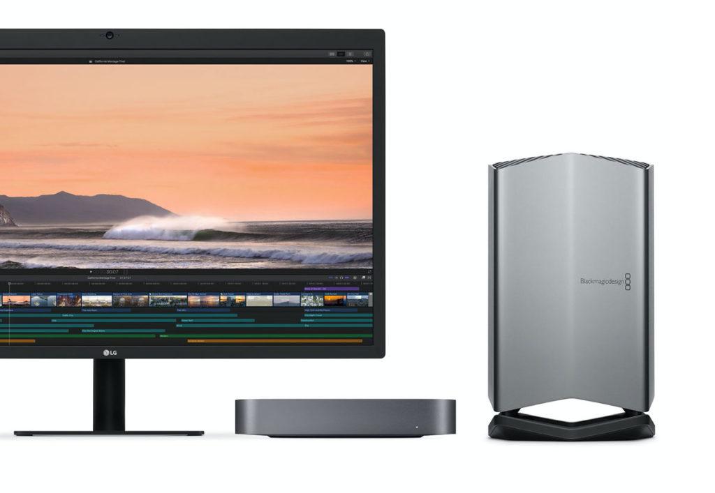 Mac miniとBlackmagic eGPU Pro