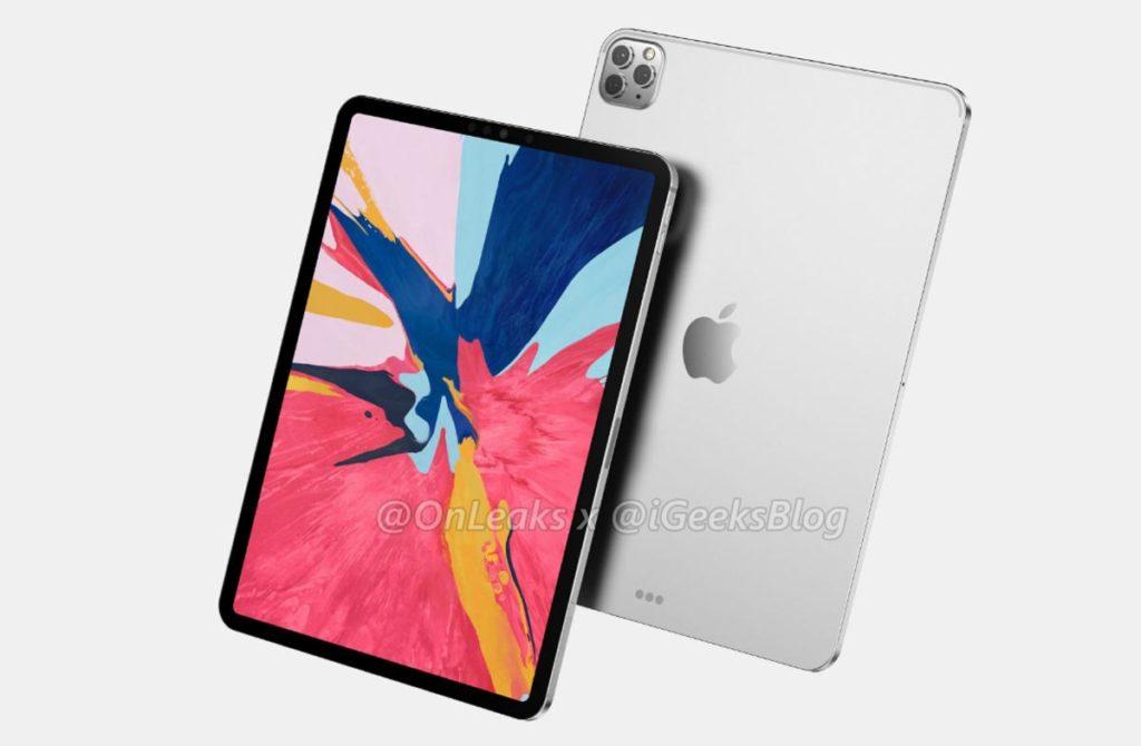 iPad Pro 2020のレンダリング画像