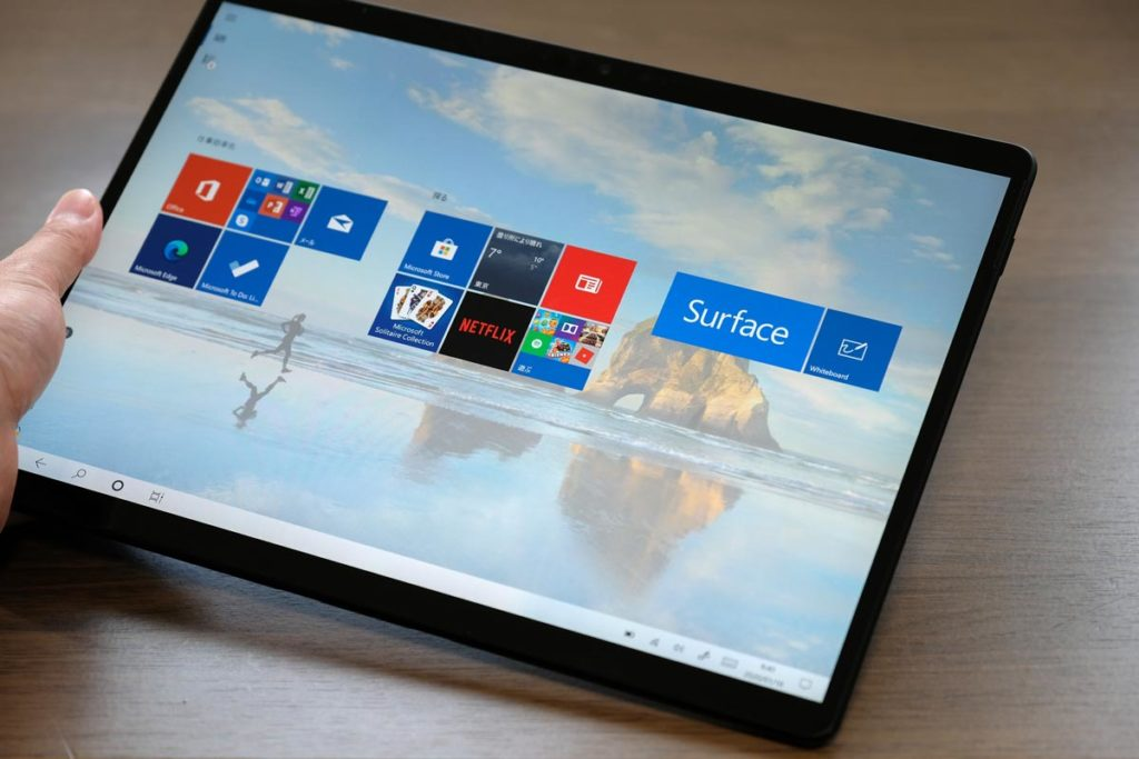 Surface Pro Xのタブレットモード