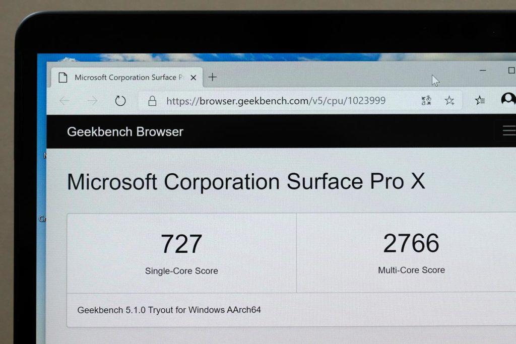 Microsoft SQ1(Geekbench 5 x86)