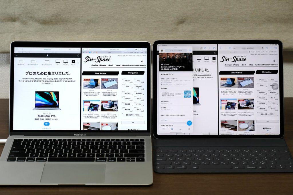 macOS・iPadOSのSplit View