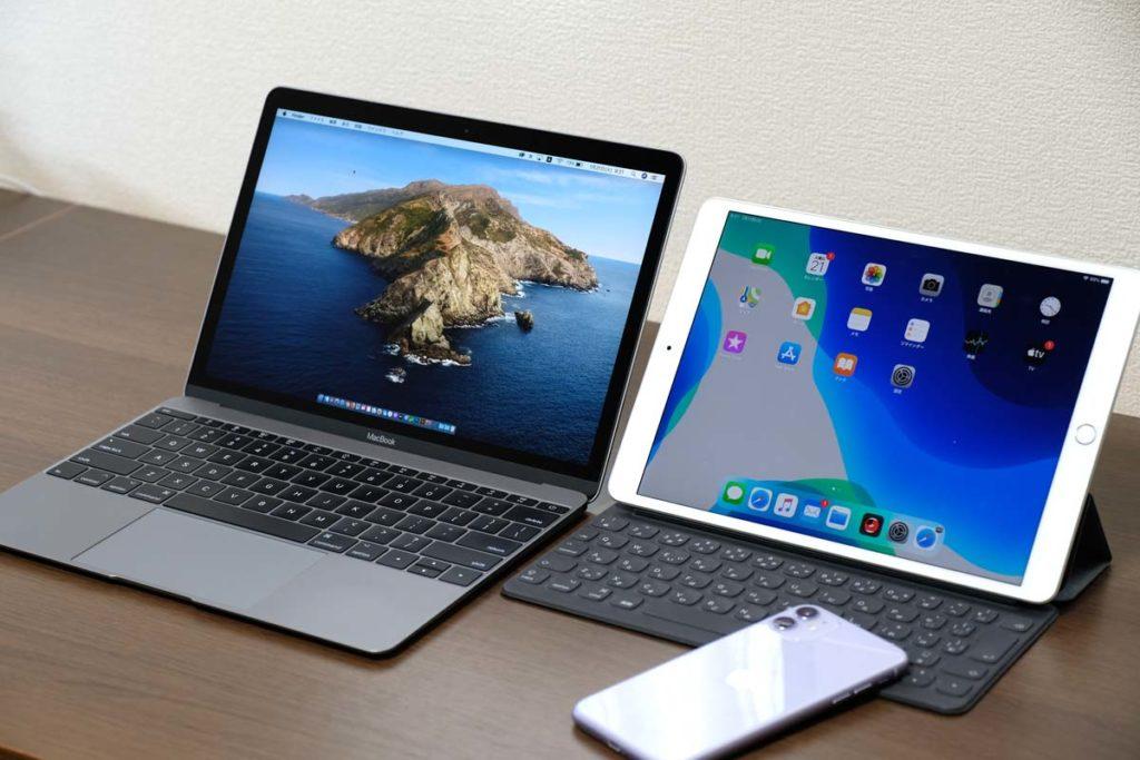 MacBook 12インチとiPad Airのサイズ差