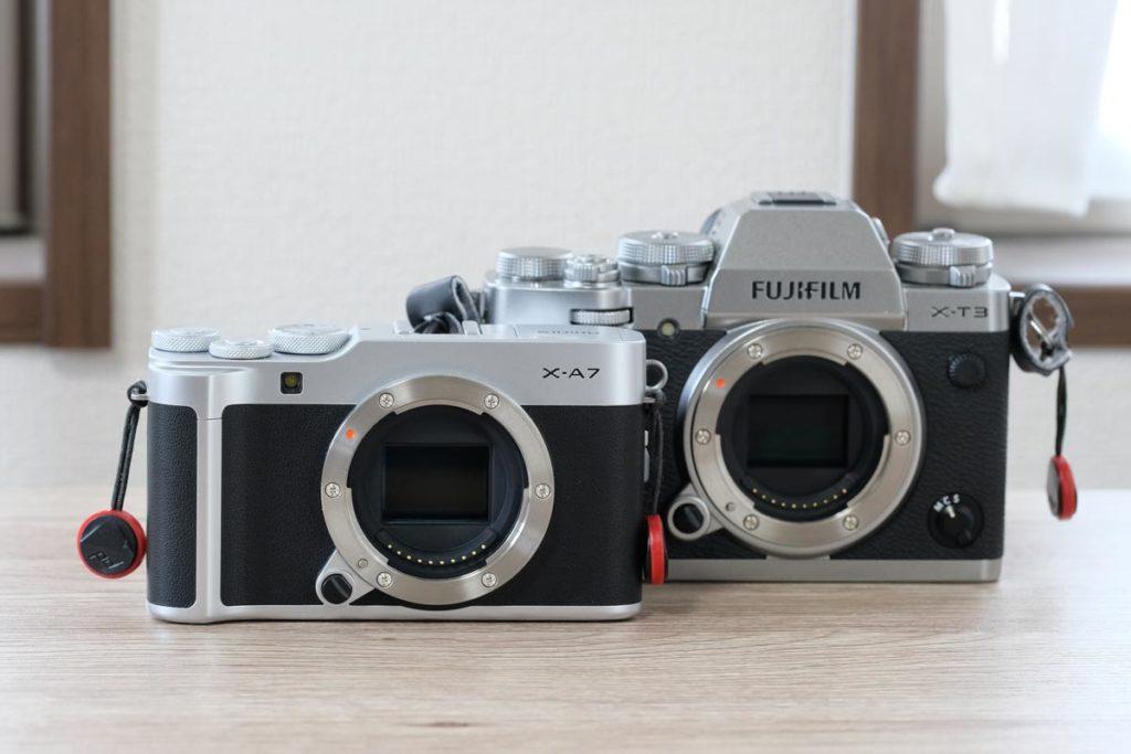 X-A7とX-T3