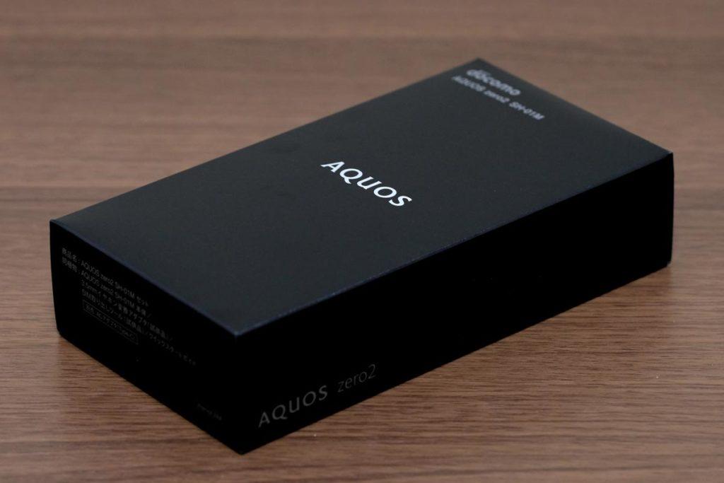 AQUOS zero2のパッケージデザイン