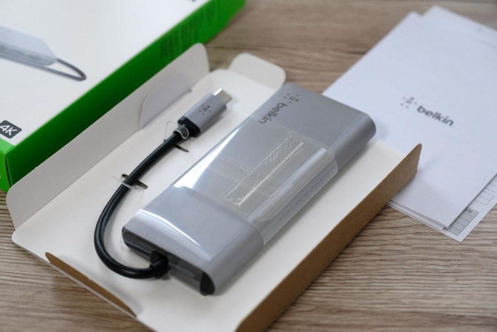 Belkin USB-Cマルチメディアハブ 梱包状態