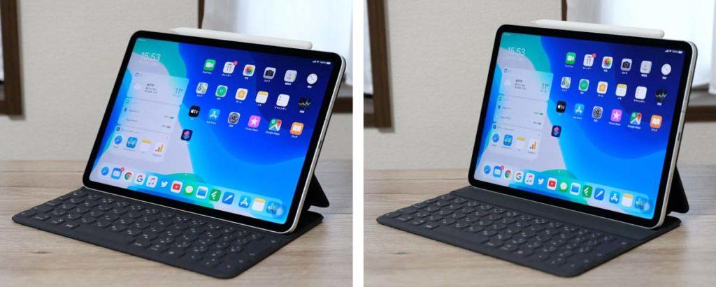 Smart Keyboard Folioは角度調整ができる