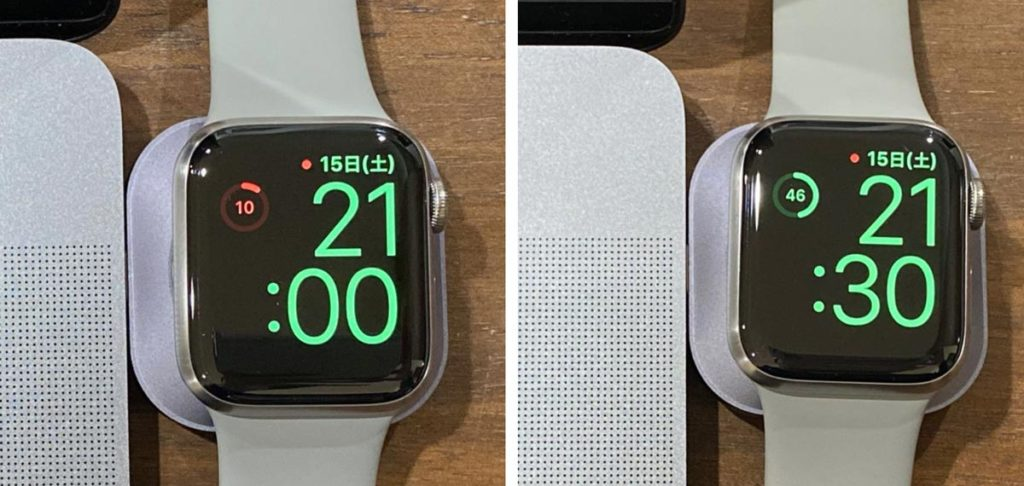 Apple Watchを30分充電