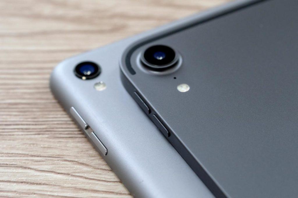 iPad Pro 2018のスペースグレイは濃い色に