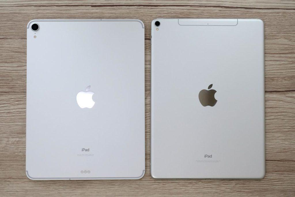 iPad Pro 11インチと10.5インチ 背面パネルのデザイン比較