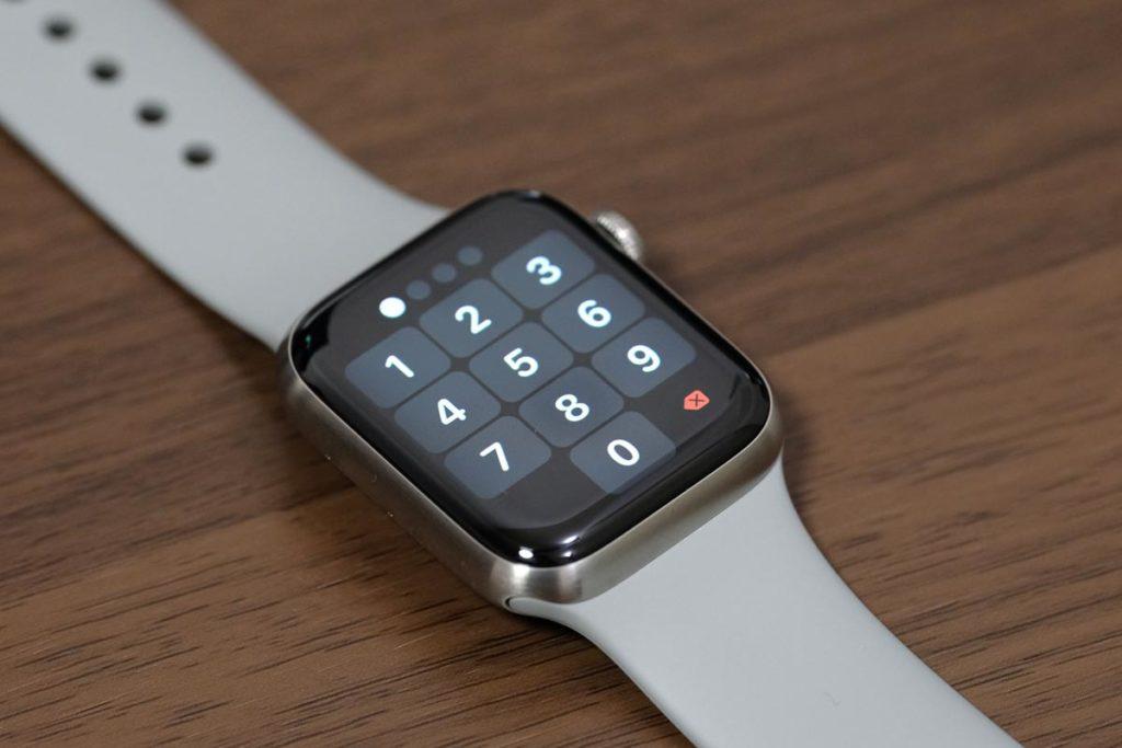 Apple Watchのパスコード入力