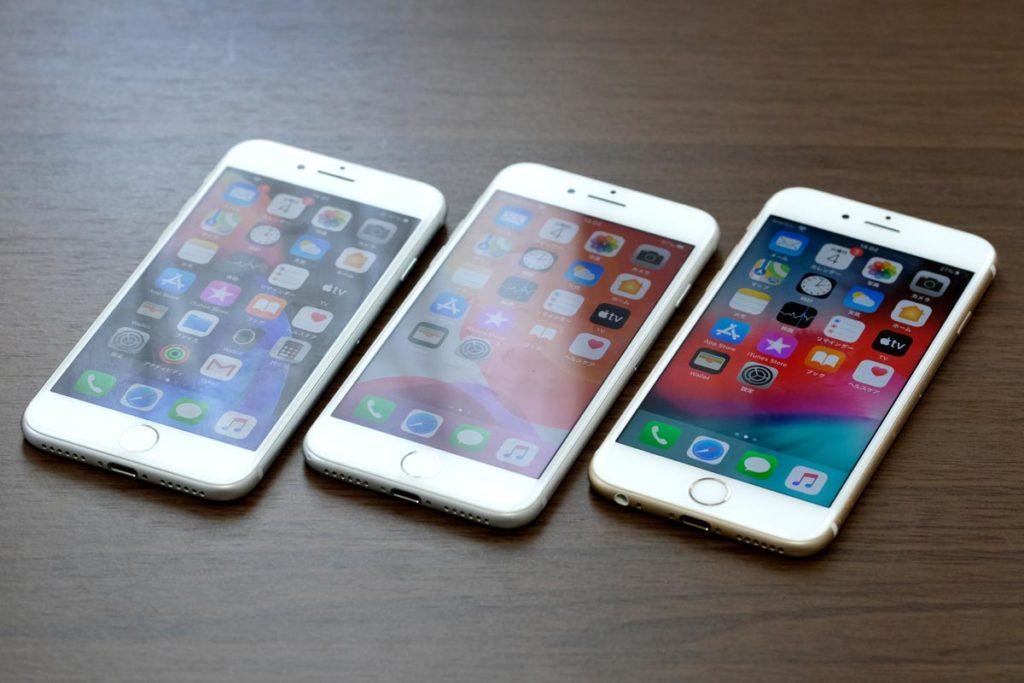 iPhone 8・iPhone 7・iPhone 6sの正面デザイン