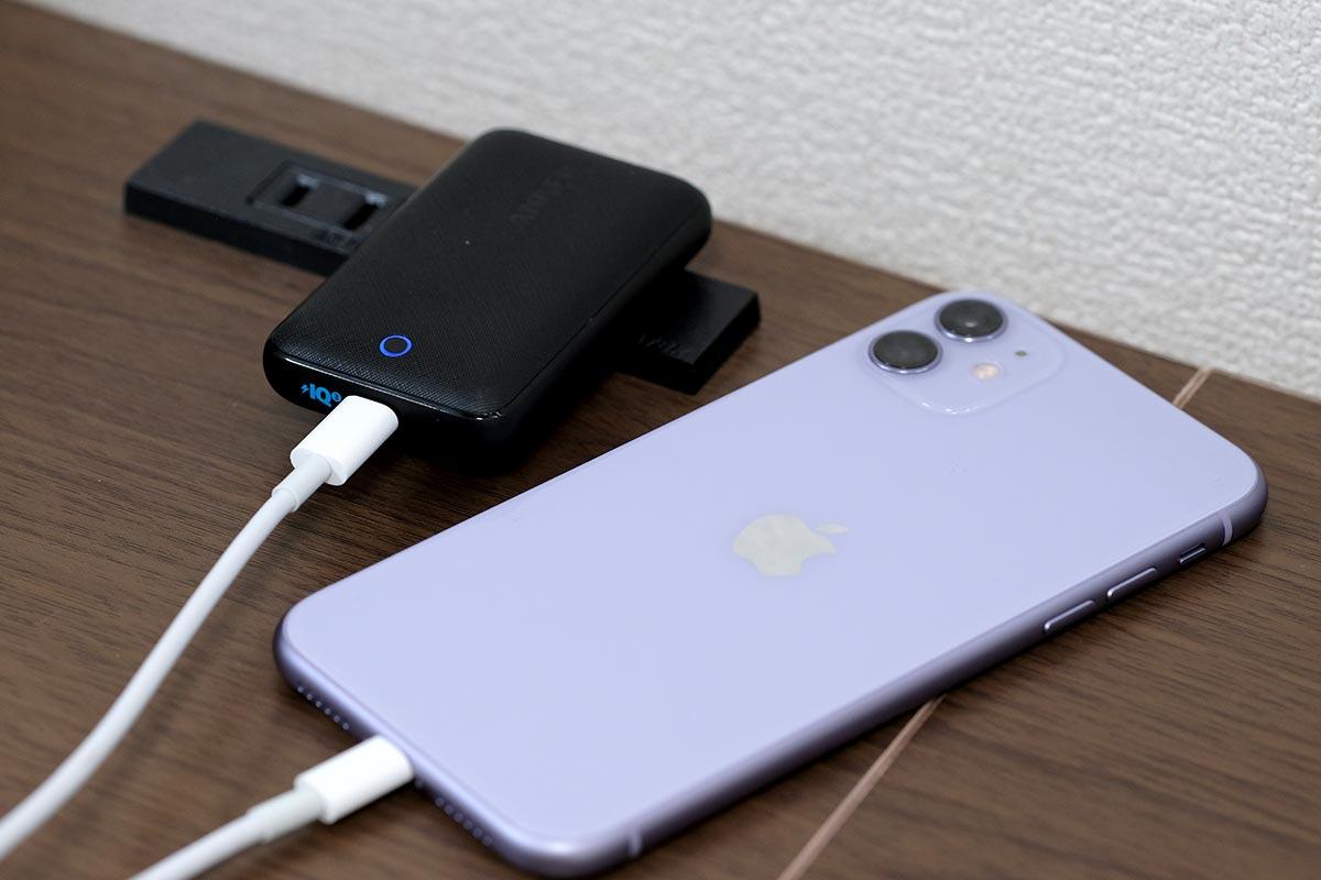 PowerPort Atom III SlimでiPhone 11を充電