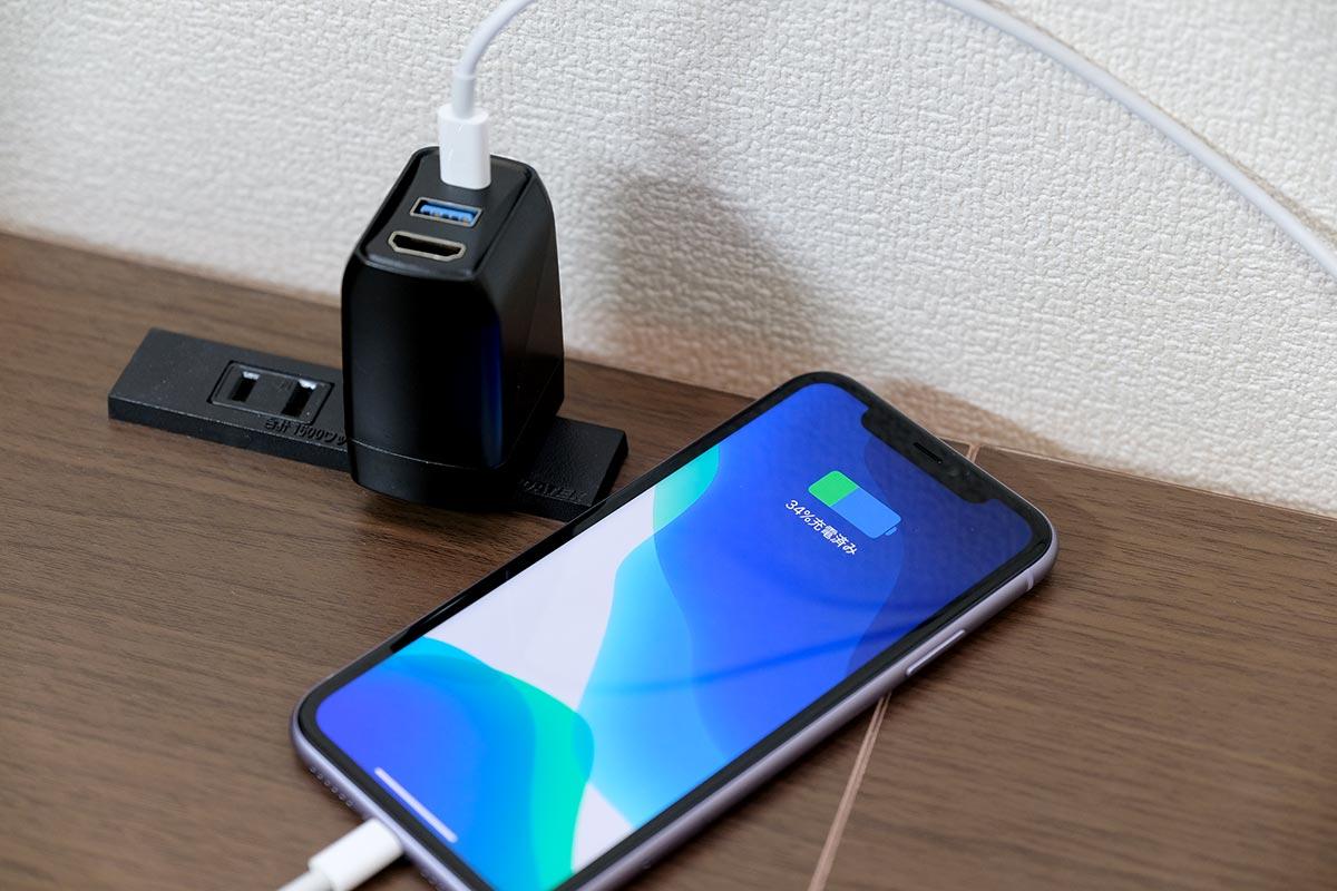 GENKI DockでiPhoneを充電する