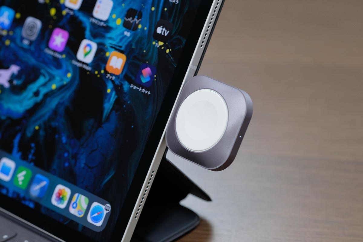 iPad ProにSatechi USB-C 充電ドックを接続