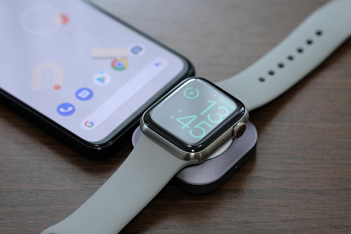 Pixel 4でApple Watchを充電する