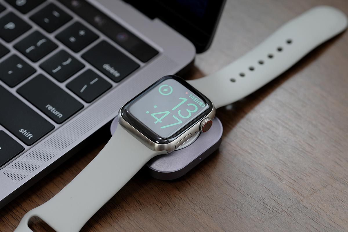 MacBook ProでApple Watchを充電する