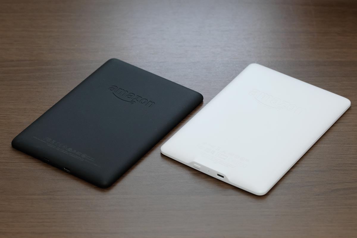 Kindle Paperwhite 2018・2015 筐体デザイン比較