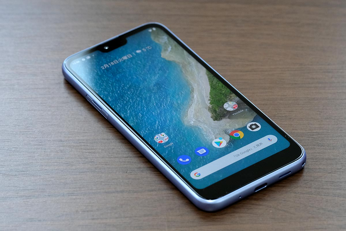 Android One S6の画面サイズ